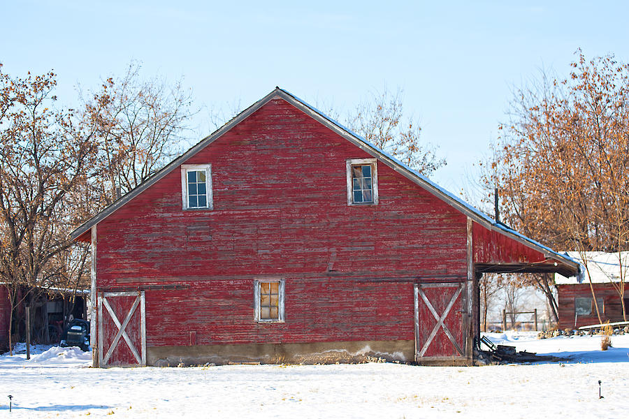 Red Barn Photograph by Dart Humeston