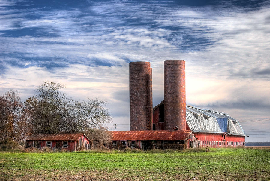 Landscape Photograph - Red Barn II by Michael Taylor