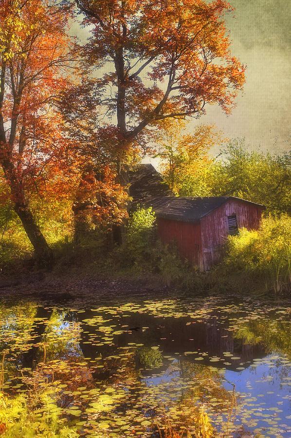 Red Barn Photograph - Red Barn In Autumn by Joann Vitali