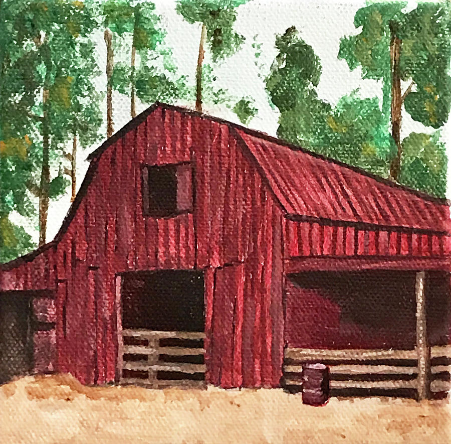 Red Barn in the Trees by Kevin Callahan