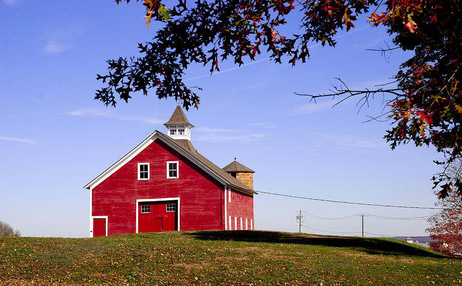 Country Photograph - Red Barn by Mark Wiley