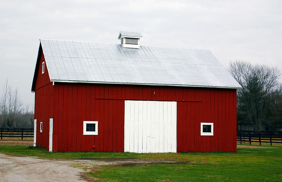 Barn Photograph - Red Barn- Photography By Linda Woods by Linda Woods