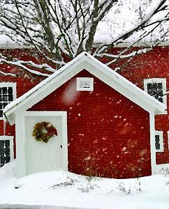 Door Photograph - Red Barn Shed by Suerae Stein