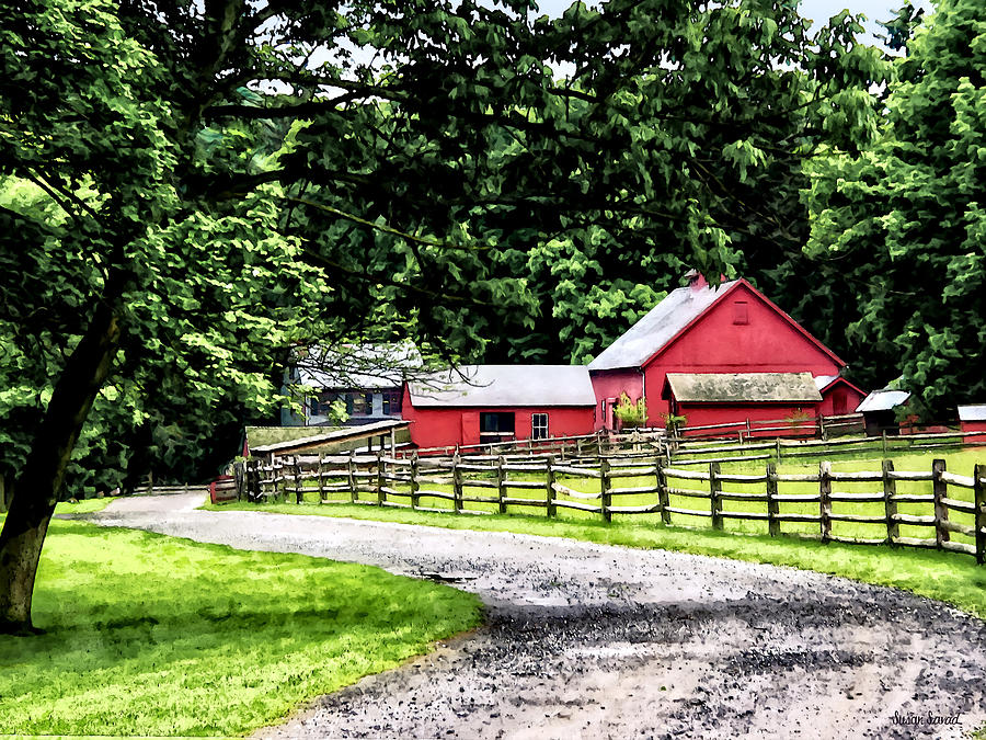 Rural Photograph - Red Barn by Susan Savad