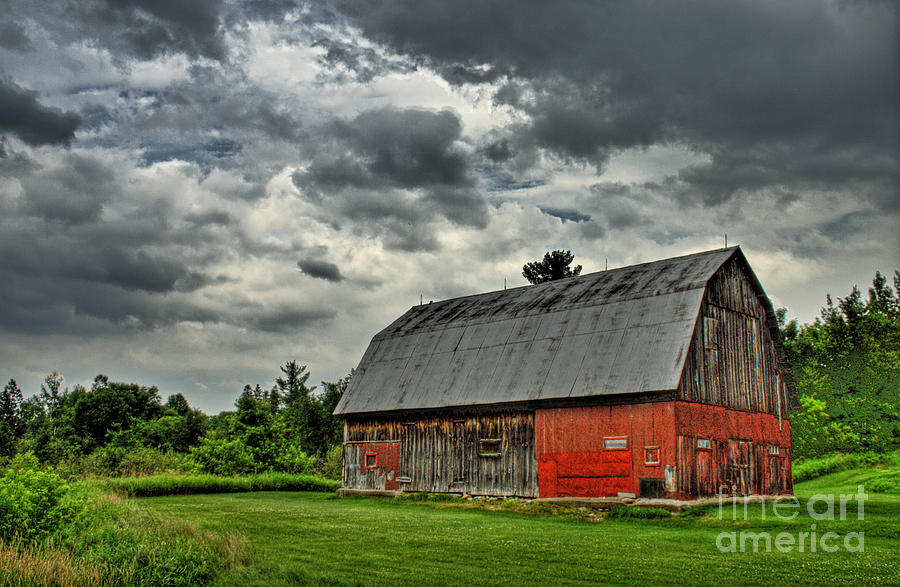 Red Photograph - Red Barn by Tim Wilson
