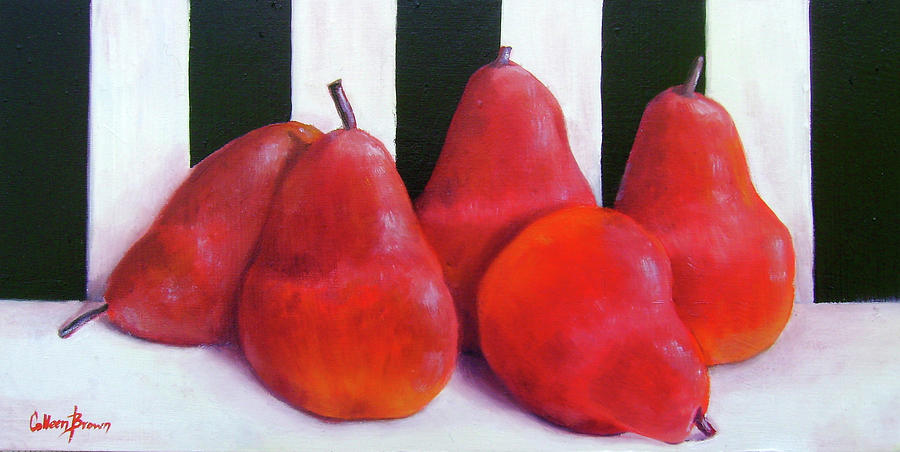 Red Painting - Red Bartletts by Colleen Brown