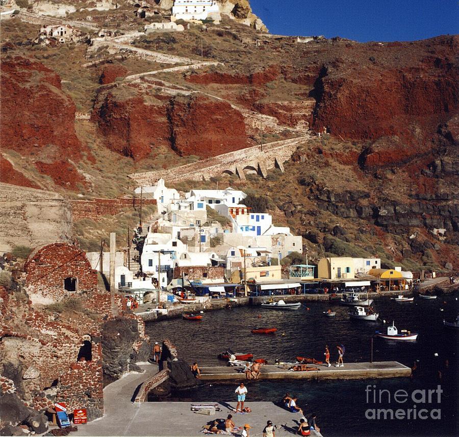 Santorini Photograph - Red Beach by Andrea Simon