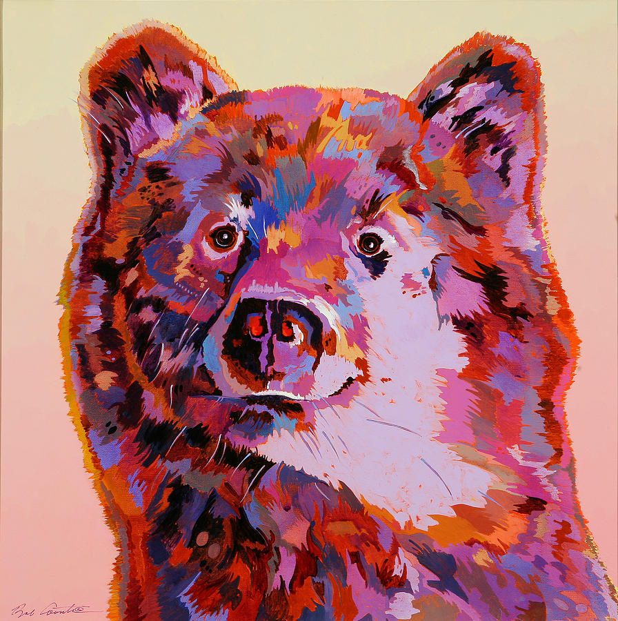 Wildlife Painting - Red Bear by Bob Coonts