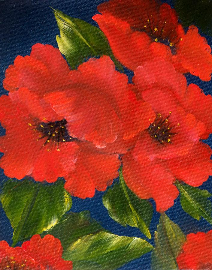 Floral Painting - Red Beauty by Joni McPherson