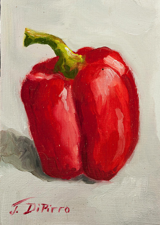 Red Painting - Red Bell Pepper by Joni Dipirro