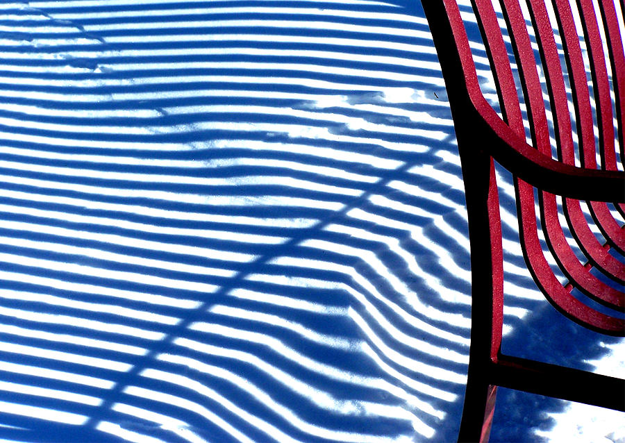 Conceptual Photography Photograph - Red Bench by Steven Huszar