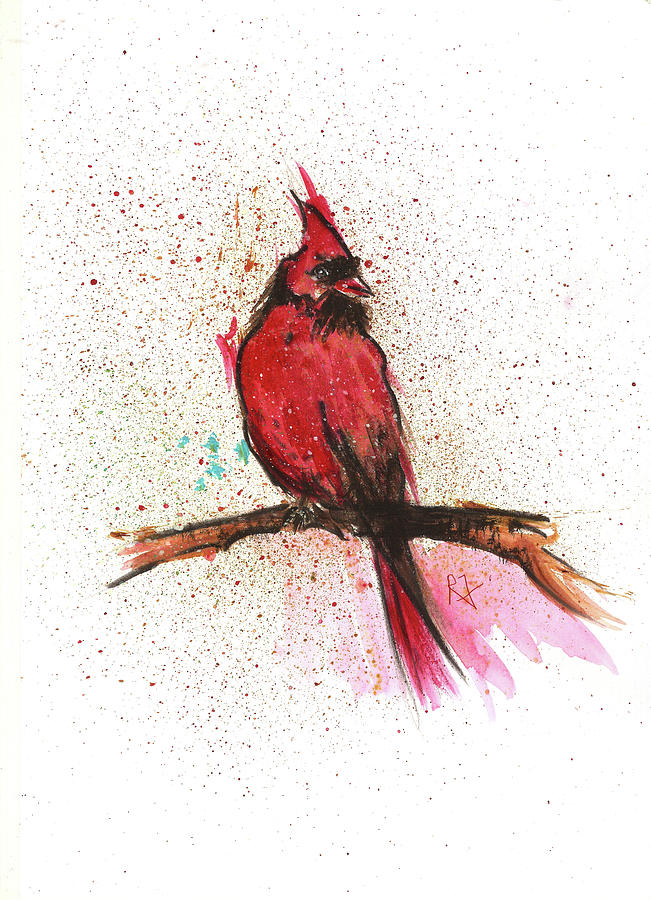 Red Bird Painting - Red Bird by Remy Francis