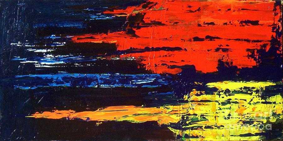 Fabulous Red Blue And Yellow Painting by Brian Booth WY41