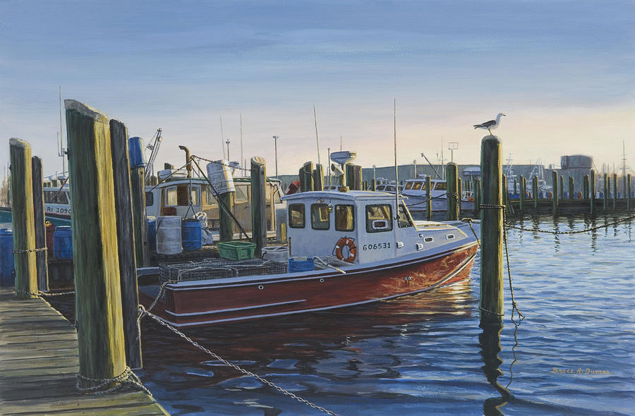 Boat Painting - Red Boat At Galilee by Bruce Dumas