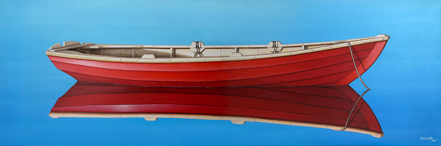 Red Painting - Red Boat by Horacio Cardozo
