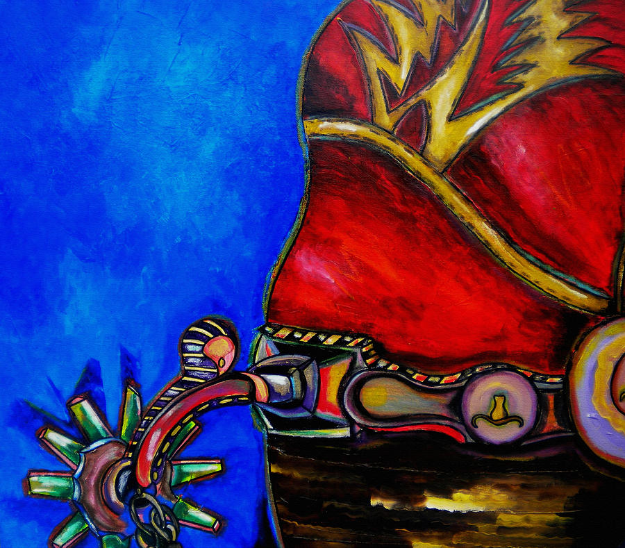 Boot Painting - Red Boot by Patti Schermerhorn