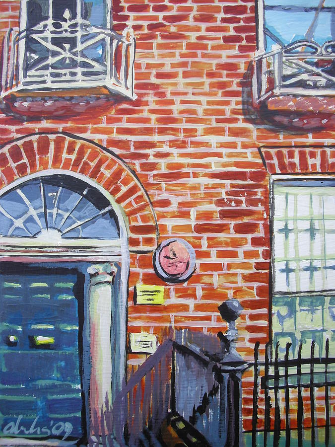 Red Brick Building In Dublin Painting by Aleksandra Buha