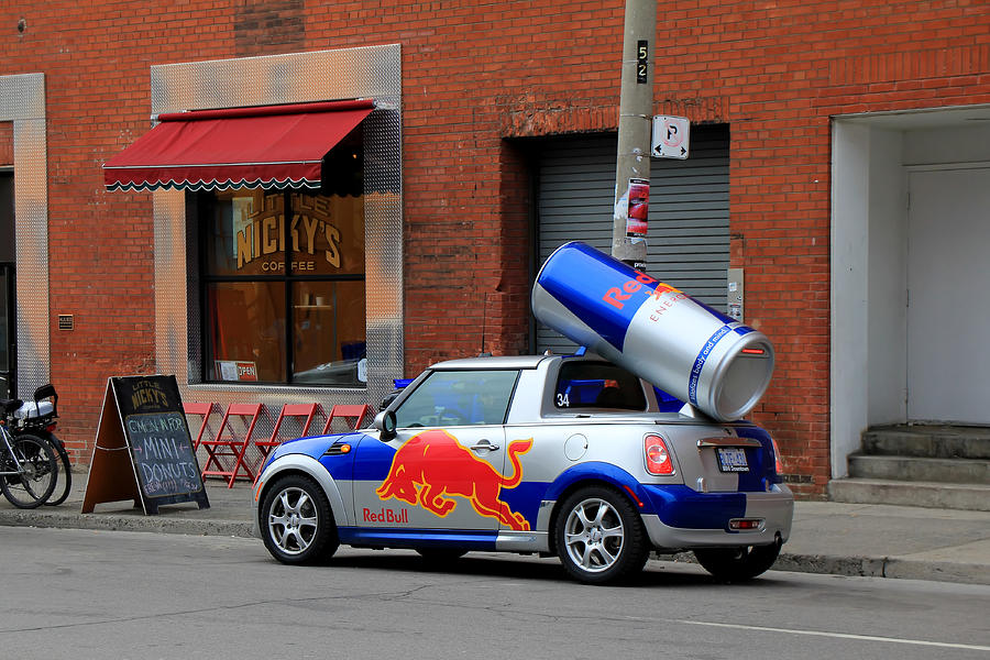 Red Bull Car Photograph By Andrew Fare