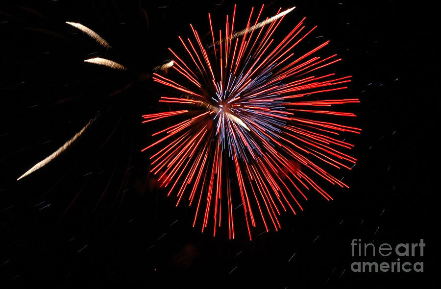 4th Of July Photograph - Red Burst by Norman Andrus