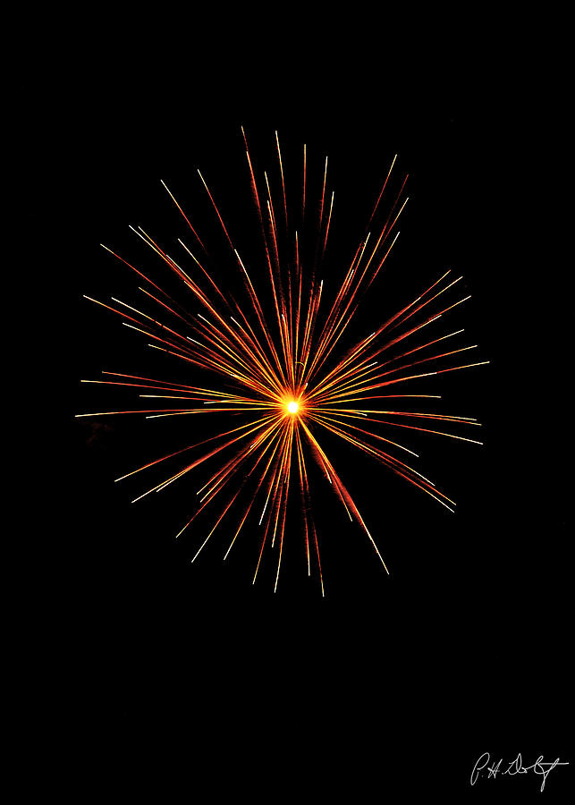 July 4th Photograph - Red Burst by Phill Doherty