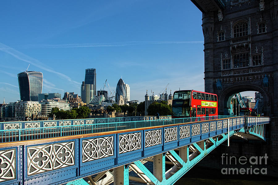 Red Bus on Tower Bridge by Chris Thaxter