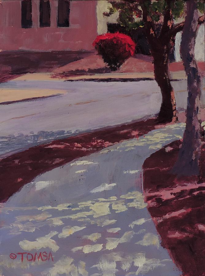Red Bush on Ludlow - Art by Bill Tomsa by Bill Tomsa