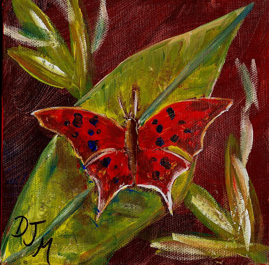 Butterflies Painting - Red Butterfly by Dalila Jasmin