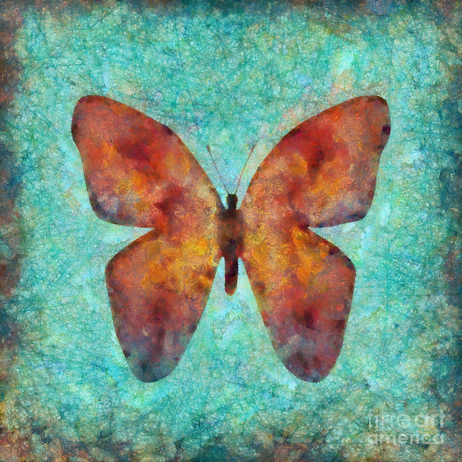 Butterfly Painting - Red Butterfly by Grigorios Moraitis