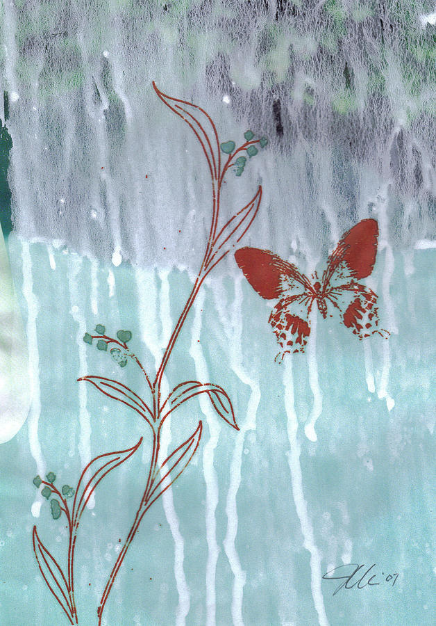Butterfly Mixed Media - Red Butterfly by Jennifer Bonset