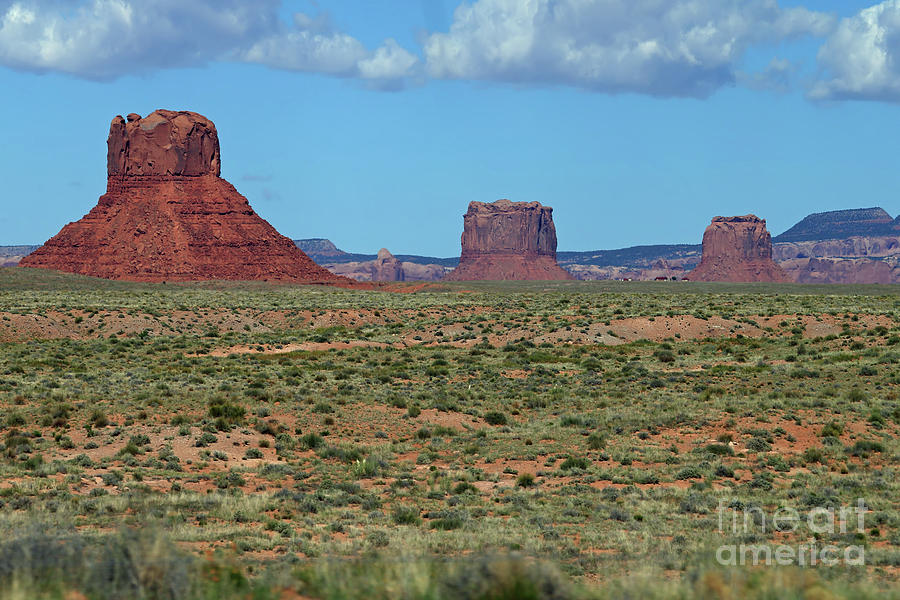 Nature Photograph - Red Buttes by Rick Mann