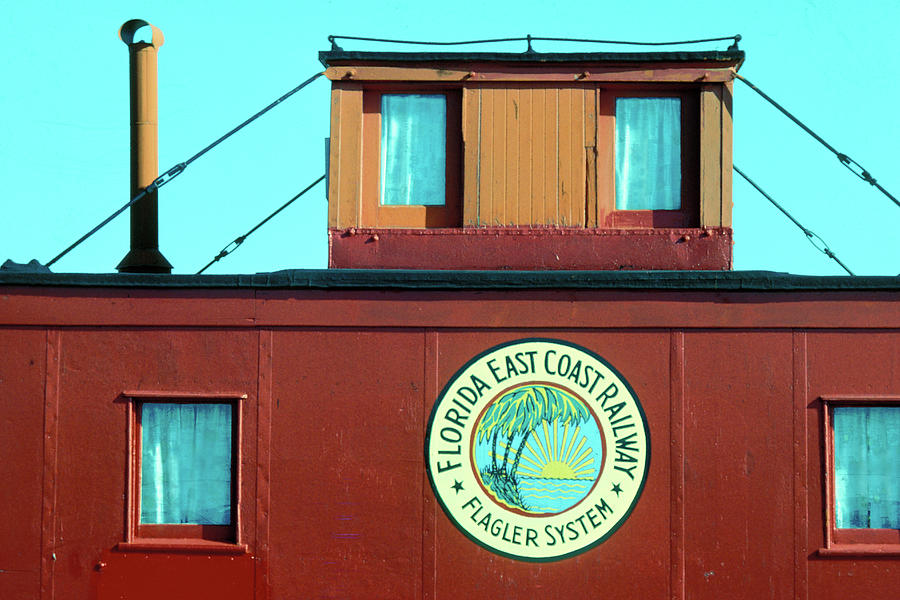 Red Caboose in Florida Keys by Carl Purcell