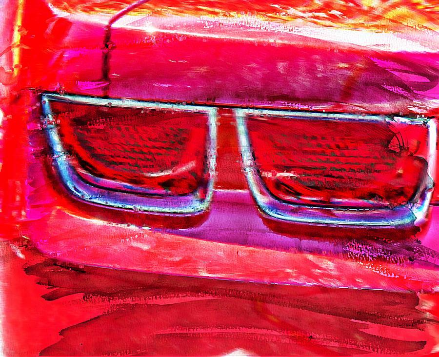 Red Camaro Art Photograph