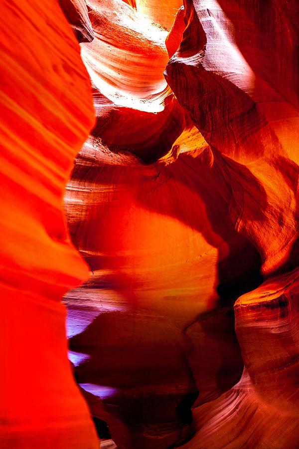 Red Canyon Walls Photograph