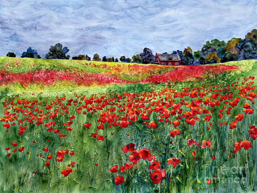 Poppy Painting - Red Carpet by Hailey E Herrera