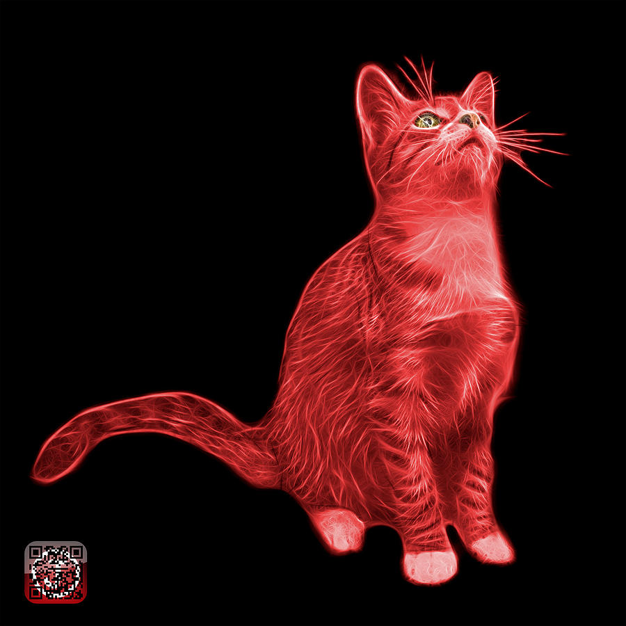 Red Cat Art 3771 Bb Painting By James Ahn