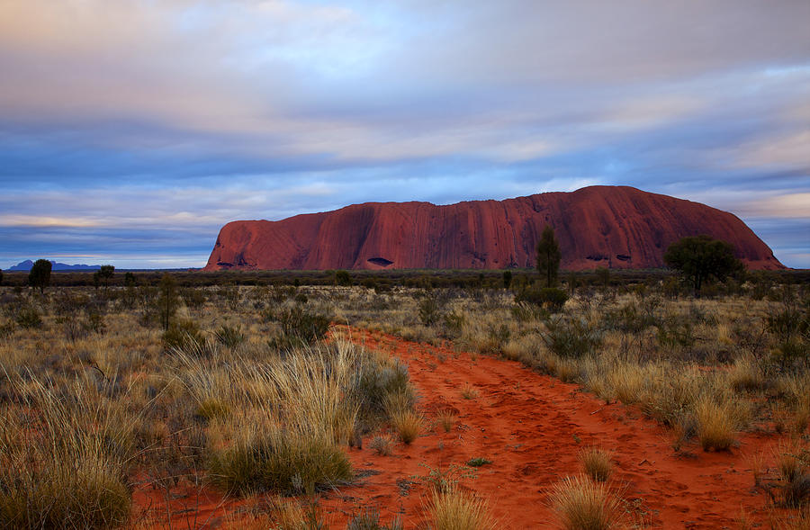 Monolith Photograph - Red Center Dawn by Mike  Dawson