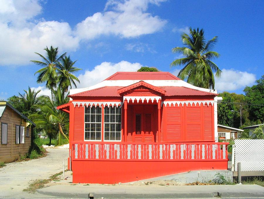 Chattel House Photograph - Red Chattel House by Barbara Marcus