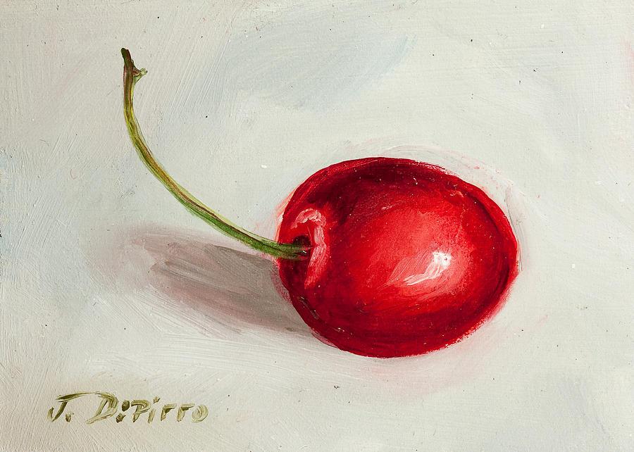 Cherry Painting - Red Cherry by Joni Dipirro