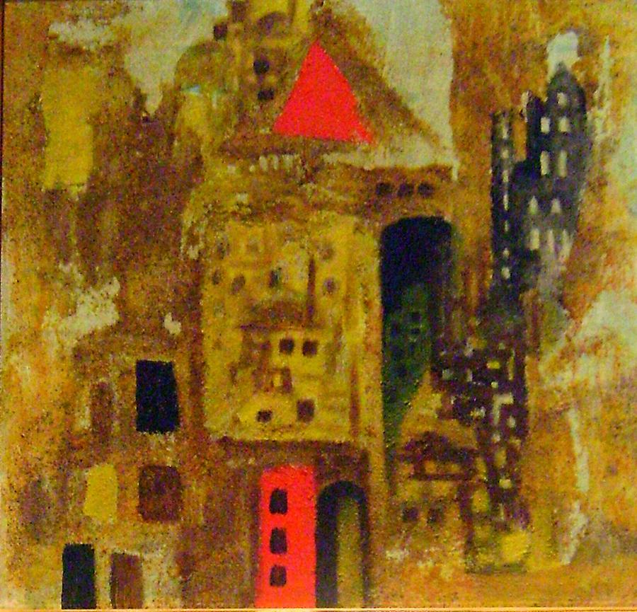 City Painting - Red City by Yahya Batat