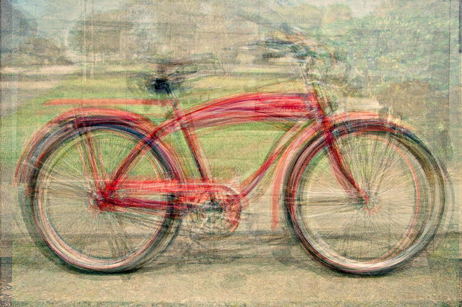 Bicycle Photograph - Red Classic Bikes by Denis Bouchard