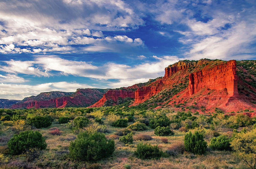 Red Cliffs of Caprock Canyon 2 by Adam Reinhart