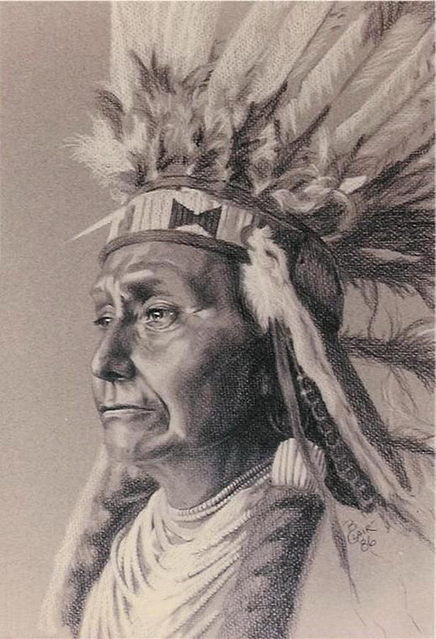 Kid Drawing Native American