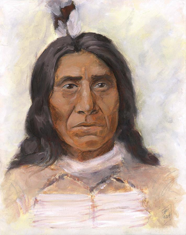 Native American Painting - Red Cloud by Brandy Woods