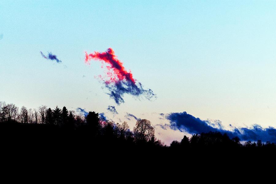 Landscape Photograph - Red Cloud by -danny Ruggiero
