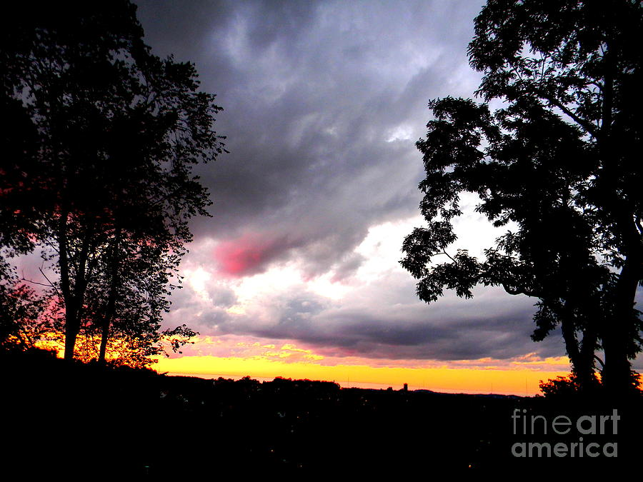 Acrylic Prints Photograph - Red Cloud, Pittsburgh, Pa  by Len-Stanley Yesh