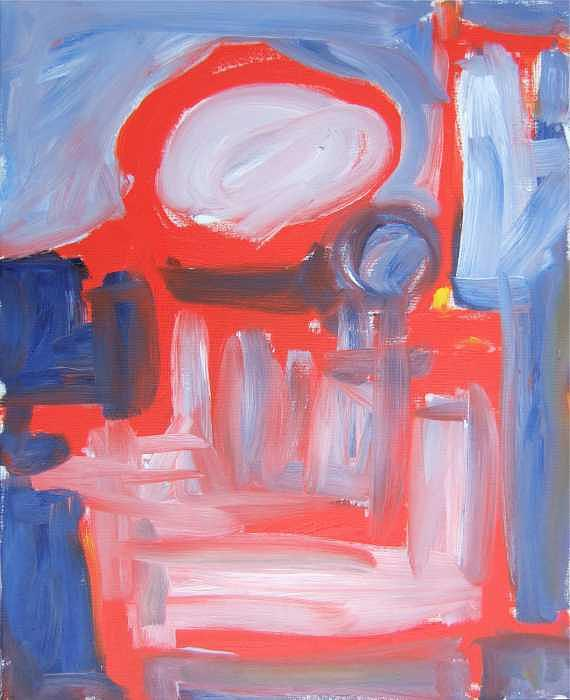 Abstract Painting - Red Composition by Michael Henderson