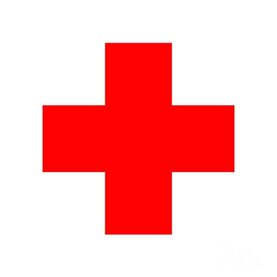 Red Cross Digital Art - Red Cross 1  by Prar Kulasekara