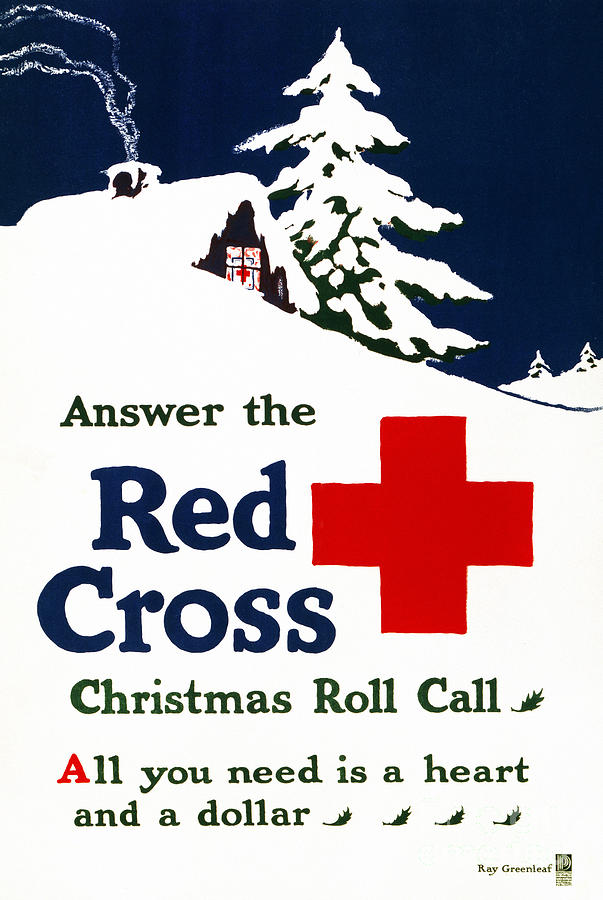 1915 Photograph - Red Cross Poster, C1915 by Granger
