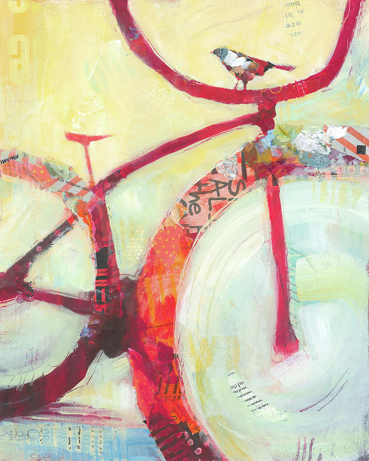 Red Cruiser And Bird by Shelli Walters