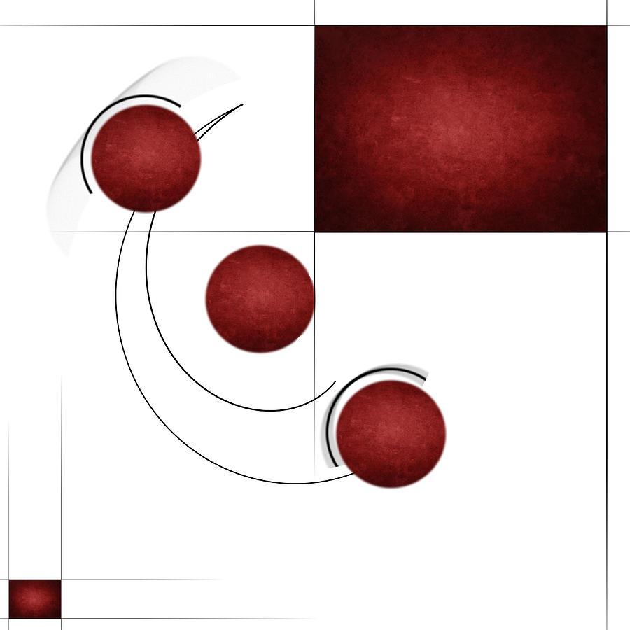 Red Digital Art - Red Curvature by Peter Leech